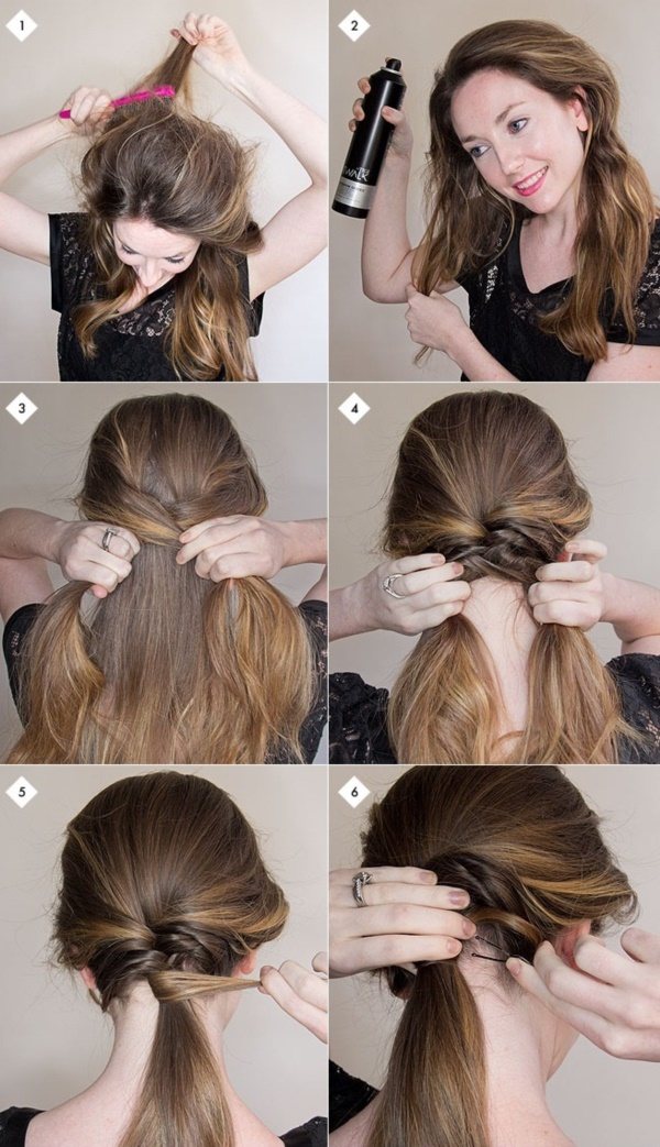 Simple Hairstyles For Long Hair volume hairstyle ponytail with bouffant tutorial hairstyle for long hair tutorial simple hairstyle with Easy Diy Hairstyles For Medium And Long Hair1 1