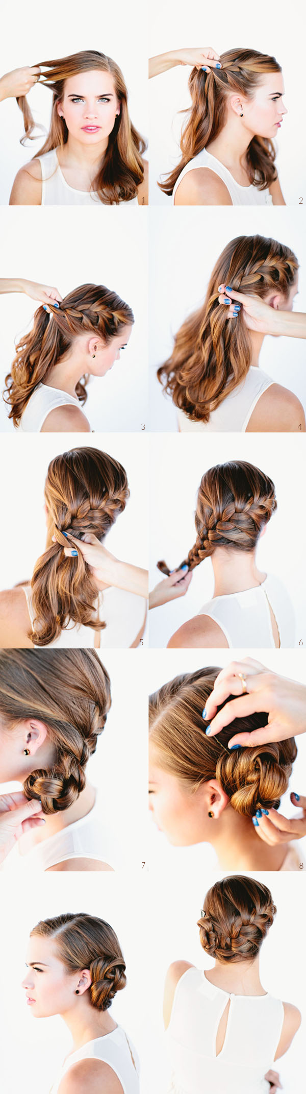 Brilliant Diy Wedding Hairstyle Topy Tail Twisted Updo Diy Wedding Hairstyles