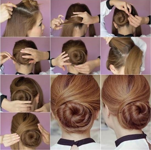 Easy Updos For Long Hair Step By Photo 7
