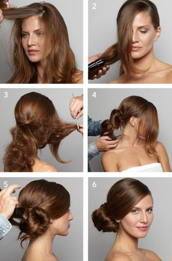 Easy to make hairstyles for medium hair at home