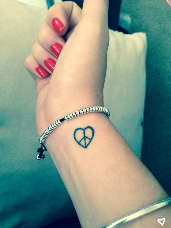 101 remarkably cute small tattoo designs for women for Small heart tattoos on wrist