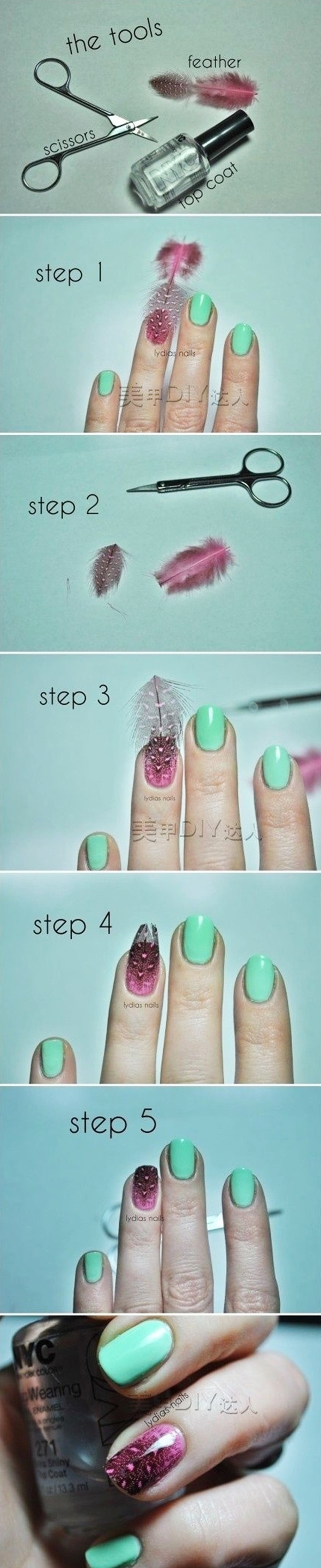 Easy Nail Art Ideas and Designs for Beginners (17)