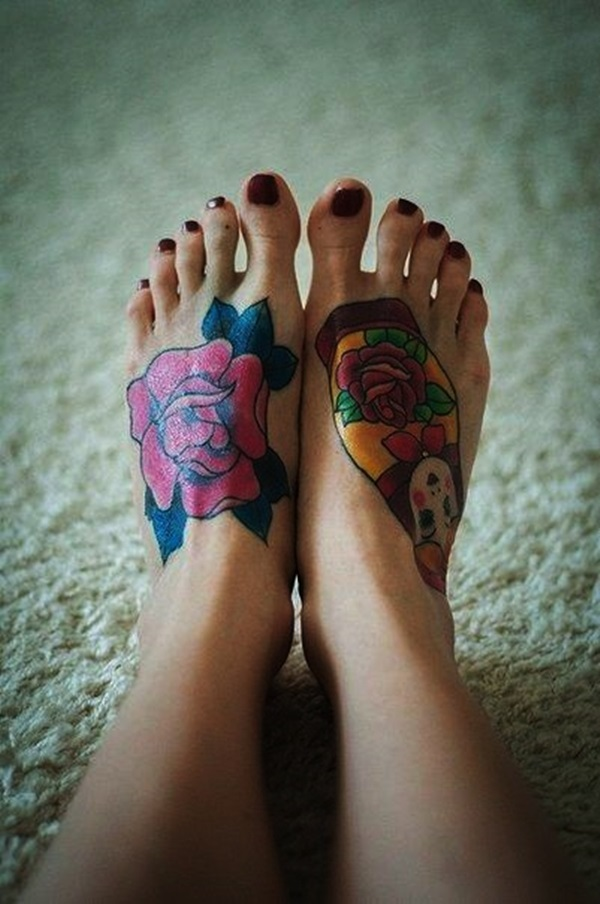 Best Foot Tattoo Designs and Ideas (26)