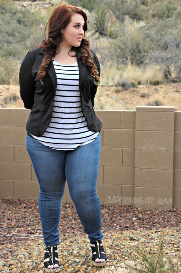 Cute Curvy Girl Fashion Outfits and Ideas (48)