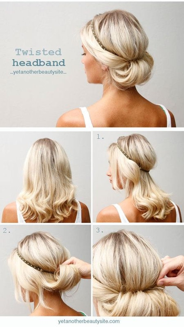 Easy Bun Hairstyles Prepossessing Top 10 Super Easy 5Minute Hairstyles For Busy Ladies  Updo Hair