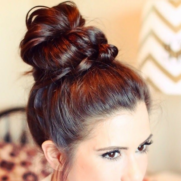 Easy Bun Hairstyles for Long Hair and Medium Hair1 (25)