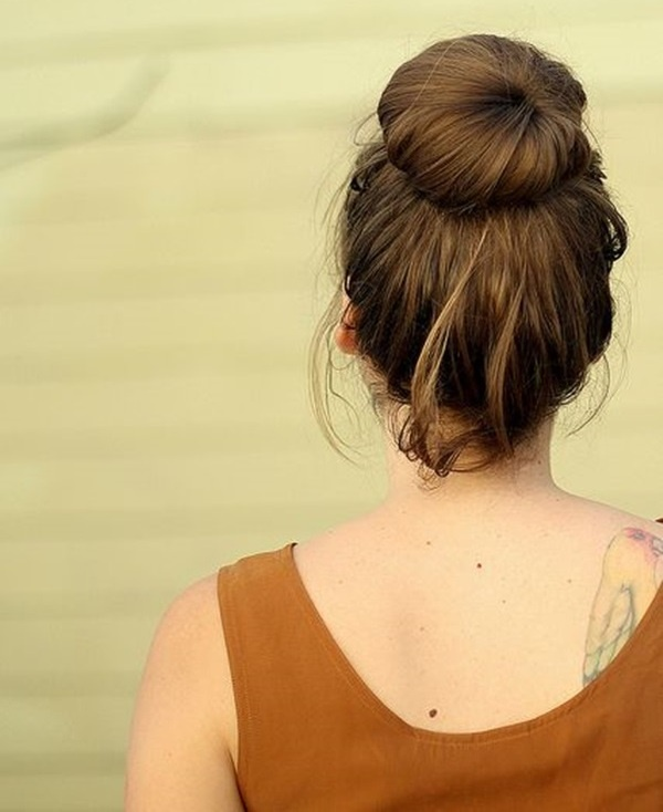 Easy Bun Hairstyles for Long Hair and Medium Hair1 (26)