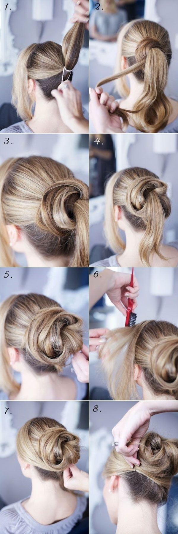Easy Bun Hairstyles for Long Hair and Medium Hair1 (30)