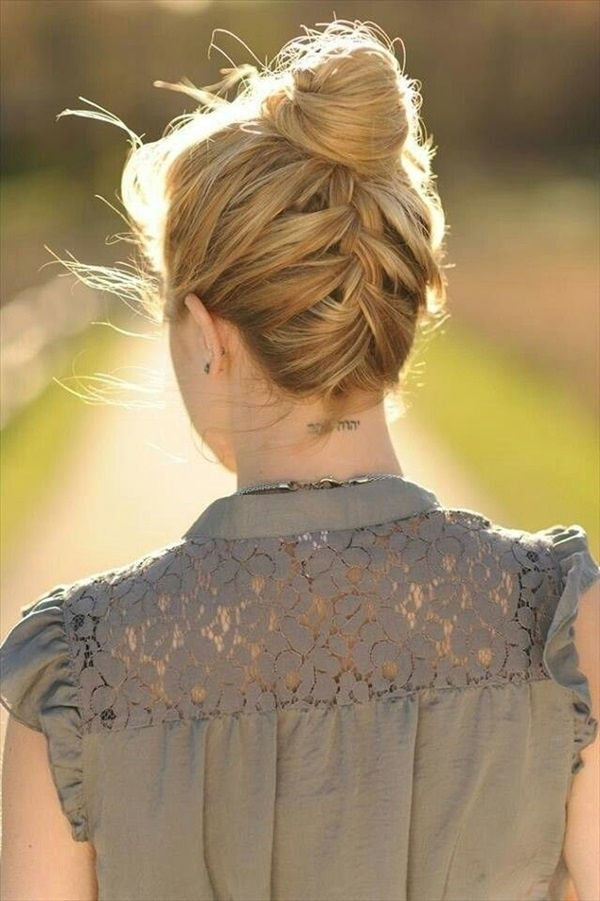 Easy Bun Hairstyles for Long Hair and Medium Hair1 (43)