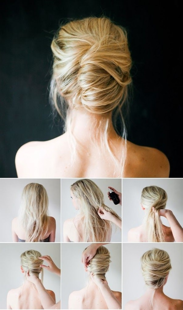 Easy Bun Hairstyles for Long Hair and Medium Hair1 (44)