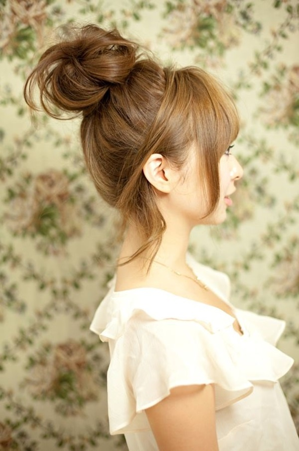 Easy Bun Hairstyles for Long Hair and Medium Hair1 (6)