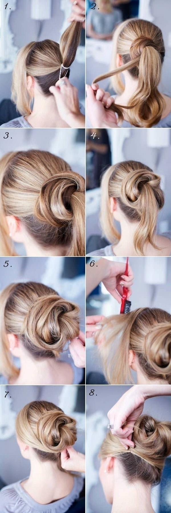 Easy Bun Hairstyles for Long Hair and Medium Hair1 (7)