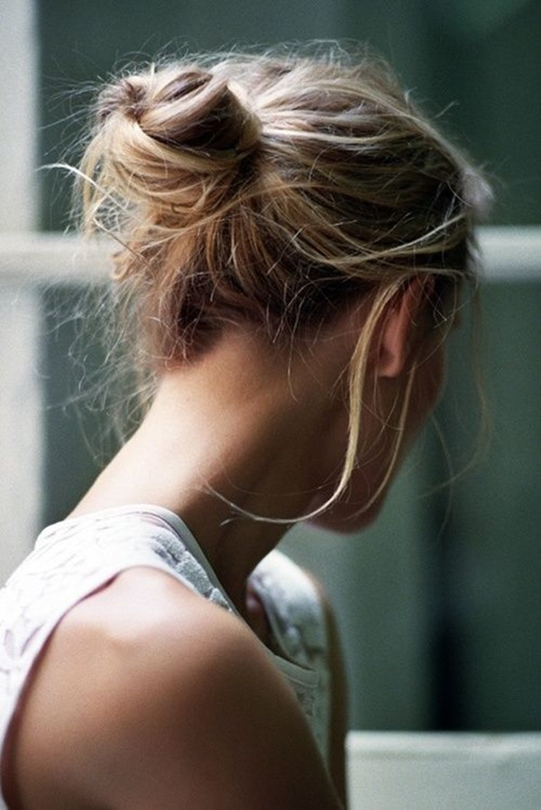 Easy Bun Hairstyles for Long Hair and Medium Hair100