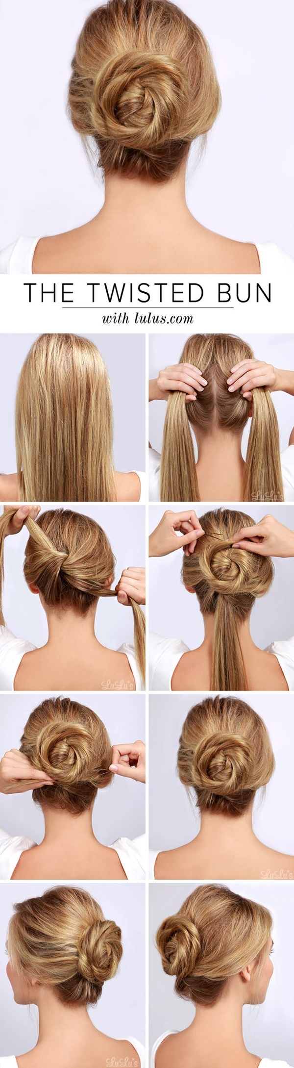 Easy Bun Hairstyles For Long Hair And Medium Hair20