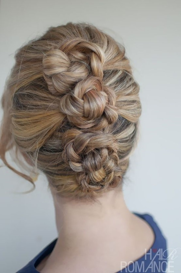 Easy Bun Hairstyles for Long Hair and Medium Hair35-Mini Braided Buns