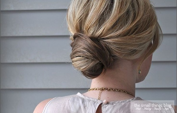 Easy Bun Hairstyles for Long Hair and Medium Hair70-Wrapped bun style