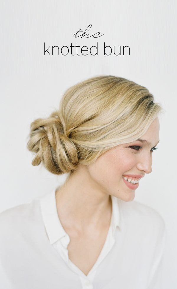 Easy Bun Hairstyles for Long Hair and Medium Hair76
