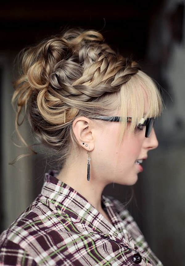 Easy Bun Hairstyles for Long Hair and Medium Hair78