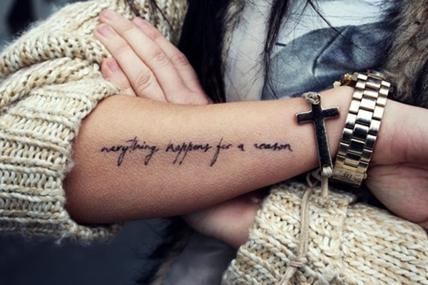 Forearm Tattoo Ideas and Designs 31-Quote tattoo designs
