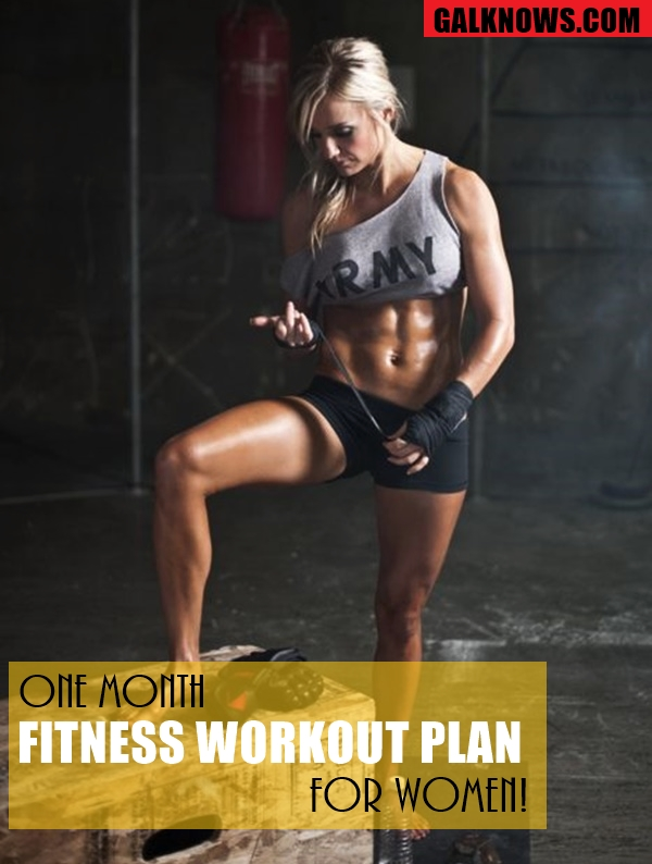 One Month Fitness Workout Plan for Women1.1