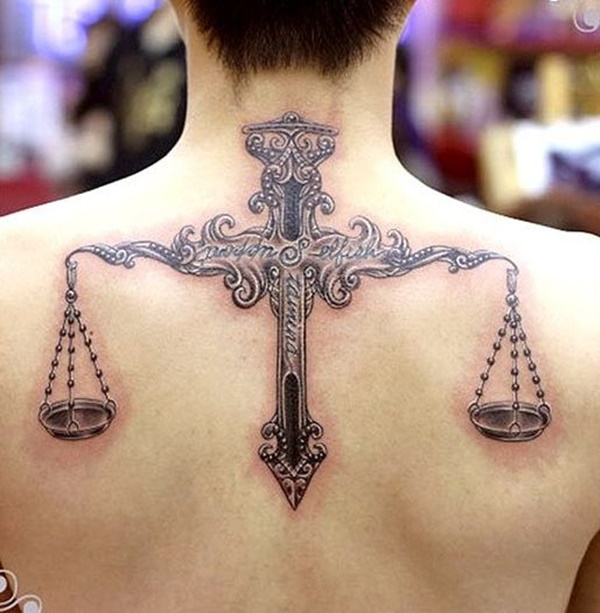 Back Tattoo Designs56- Libra tattoo