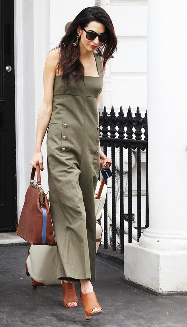 Celebrity Fashion Style Outfits45-Amal Clooney in olive green Sonia Rykiel one-piece