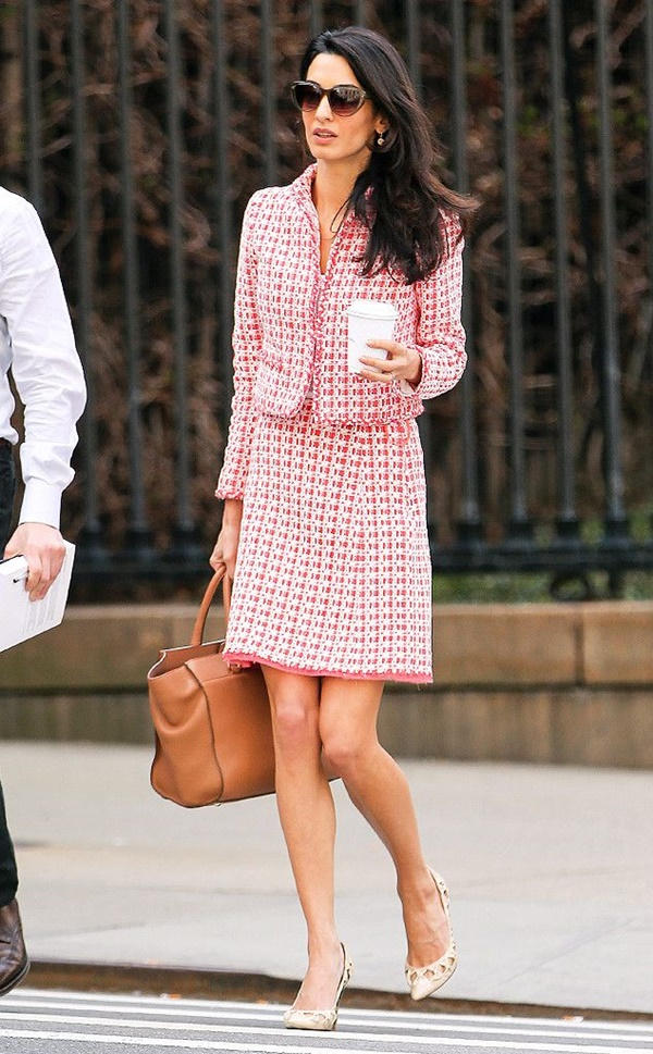 Celebrity Fashion Style Outfits99-Amal Clooney Steps Out in a Chic Tweed Suit