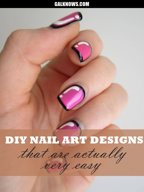 DIY Nail art designs 1.1 - 60 DIY Nail Art Designs That Are Actually Very Easy