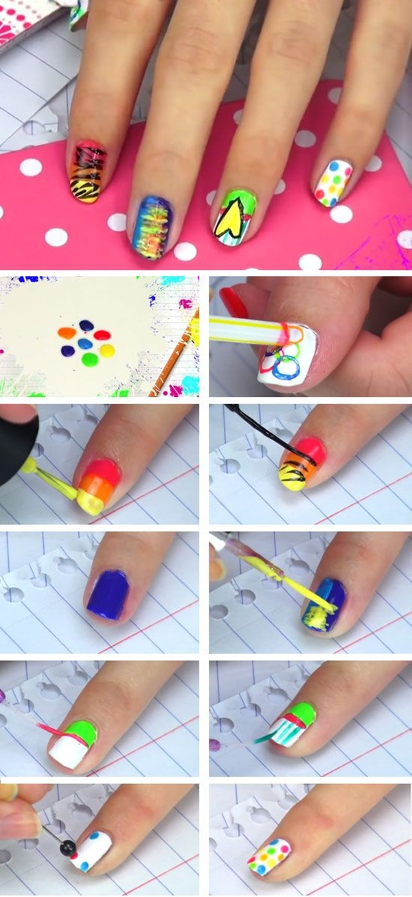 60 diy nail art designs that are actually very easy diy nail art designs 16 publicscrutiny Choice Image