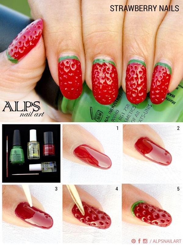 DIY Nail art designs (20) - 60 DIY Nail Art Designs That Are Actually Very Easy