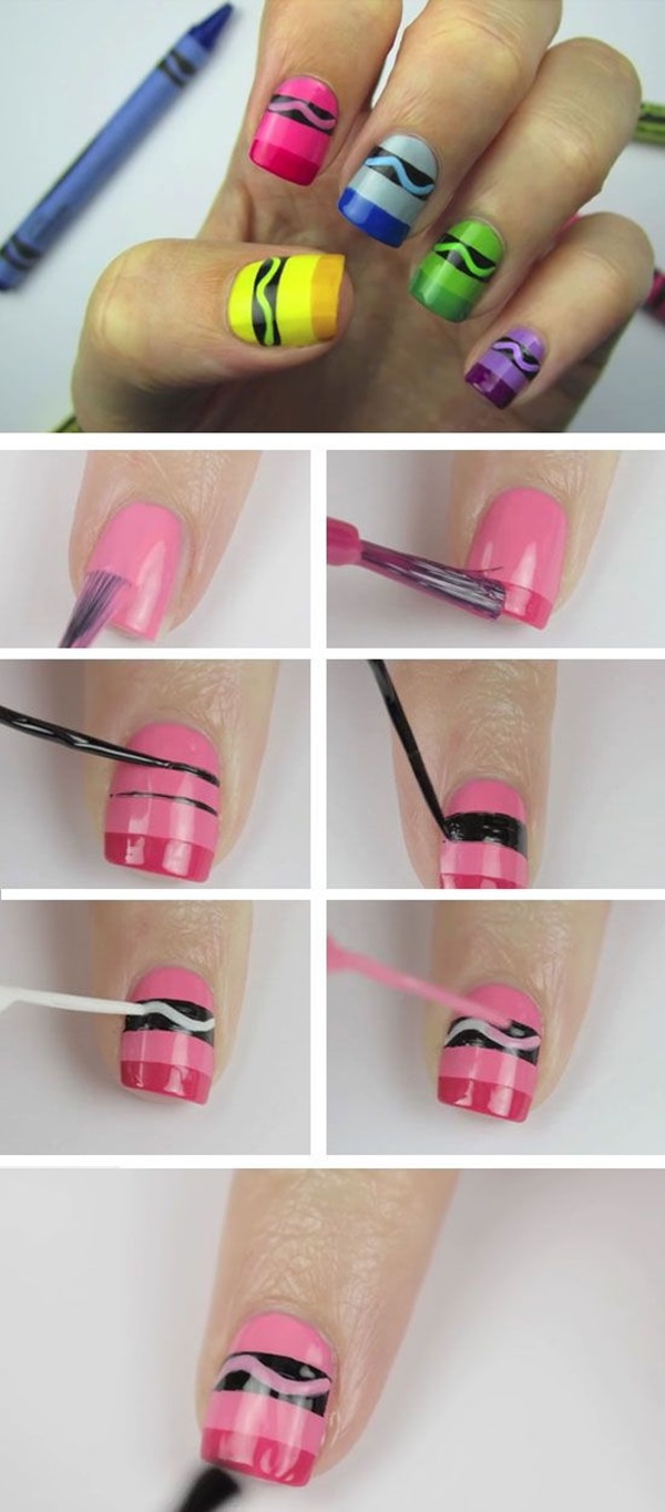 DIY Nail art designs (4) - 60 DIY Nail Art Designs That Are Actually Very Easy