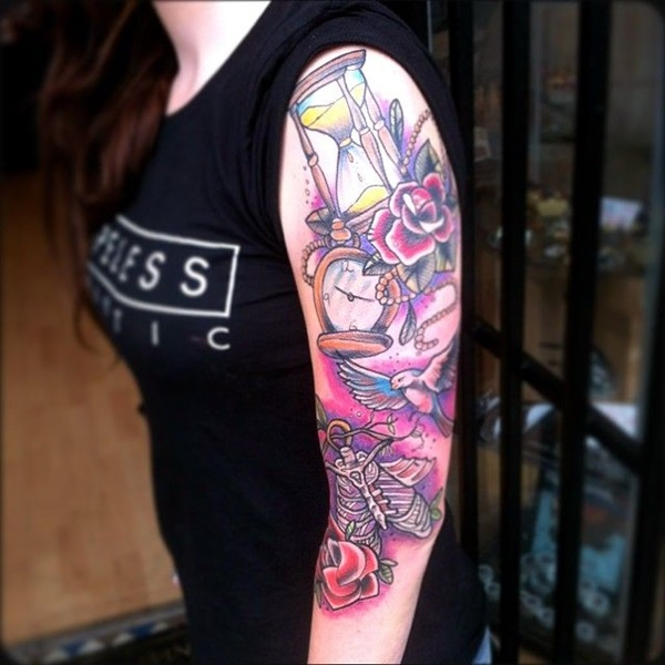 101 catchy half sleeve tattoos for girls and boys for Tattoo sleeve ideas girl