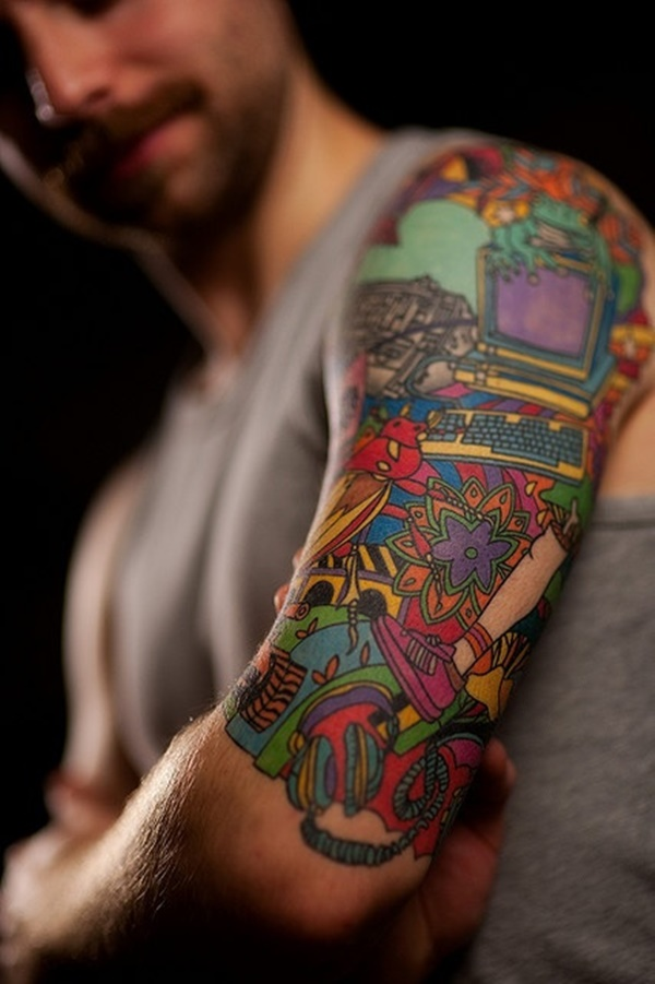 Half Sleeve Tattoos for Girls and Boys25- nerd tattoo