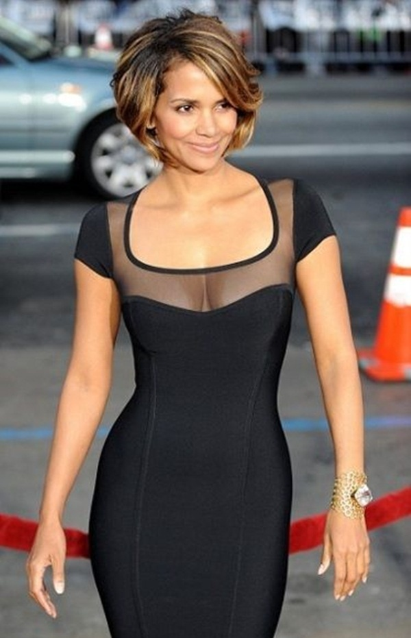 Long and Short Celebrity Hairstyles19-halle berry hairstyle