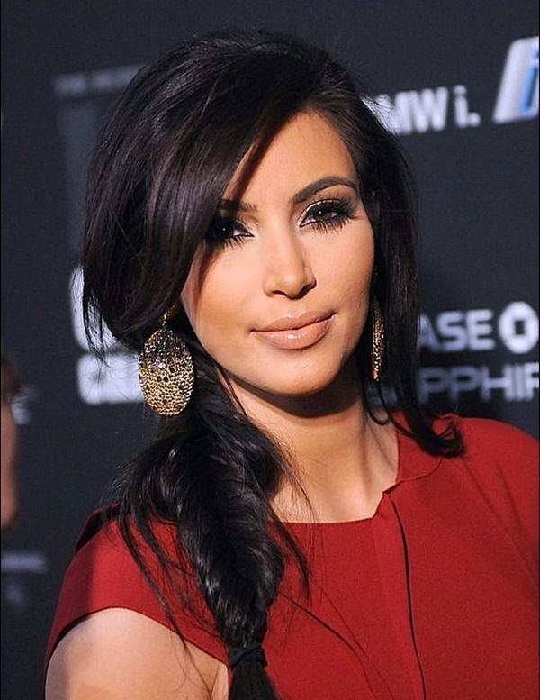 Long and Short Celebrity Hairstyles2- kim kardashian hairstyle