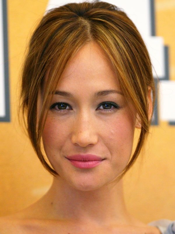 Long and Short Celebrity Hairstyles31-Maggie Q hairstyle