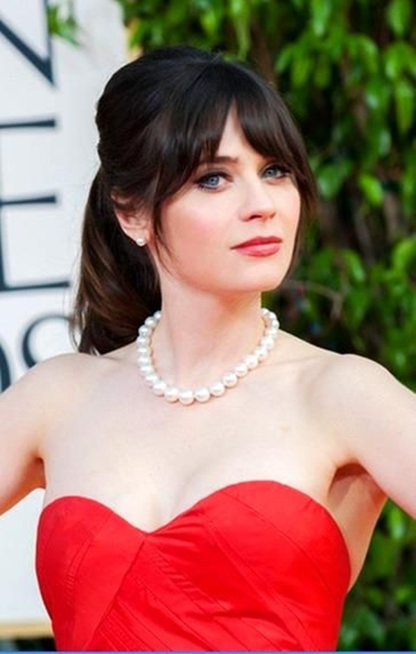 Long and Short Celebrity Hairstyles41-zooey deschanel hairstyle