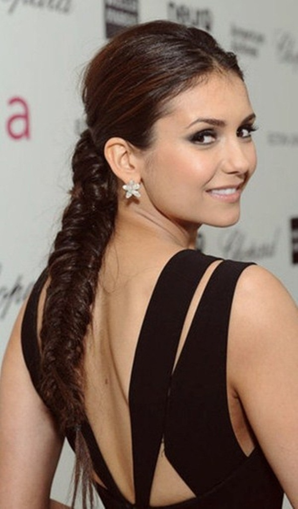 Long and Short Celebrity Hairstyles49-nina dobrev hairstyle
