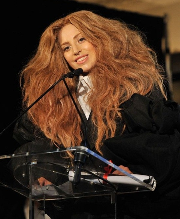 Long and Short Celebrity Hairstyles5-lady gaga hairstyle