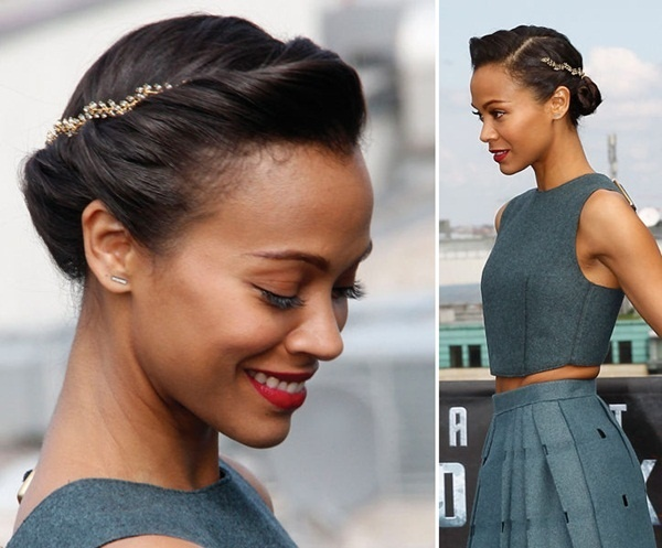 Long and Short Celebrity Hairstyles50-zoe saldana hairstyle
