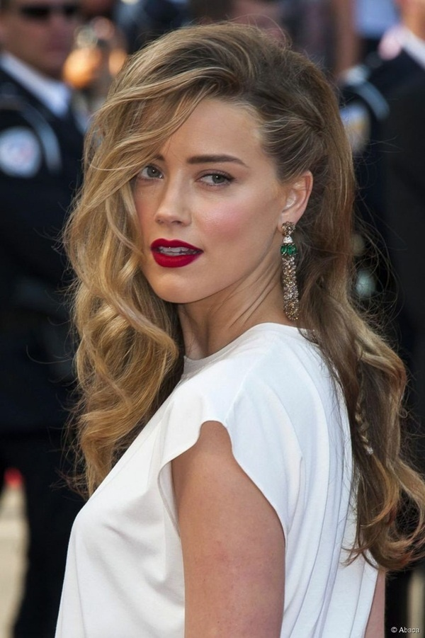 Long and Short Celebrity Hairstyles65-amber heard hairstyle