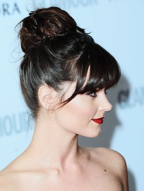Long and Short Celebrity Hairstyles97-jenna coleman hairstyle