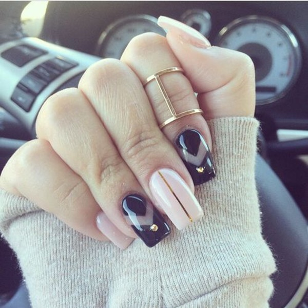 Simple Winter Nail Art Ideas for Short Nails203