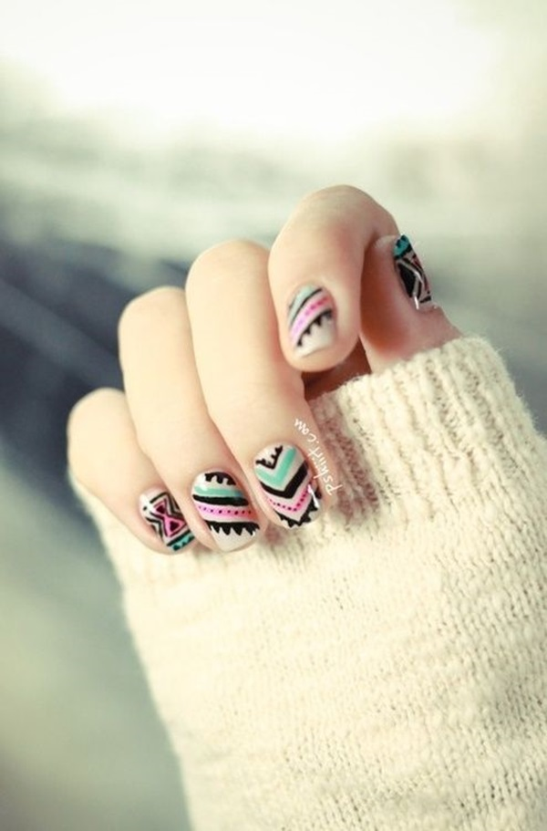 Simple Winter Nail art Ideas for Short Nails (1)