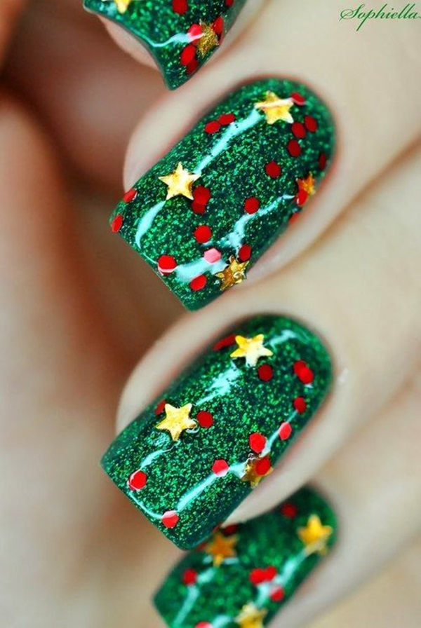 Simple Winter Nail art Ideas for Short Nails (100)