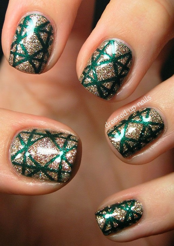 Simple Winter Nail art Ideas for Short Nails (101)