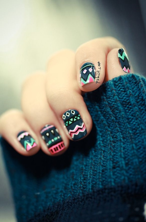 Simple Winter Nail art Ideas for Short Nails (102)