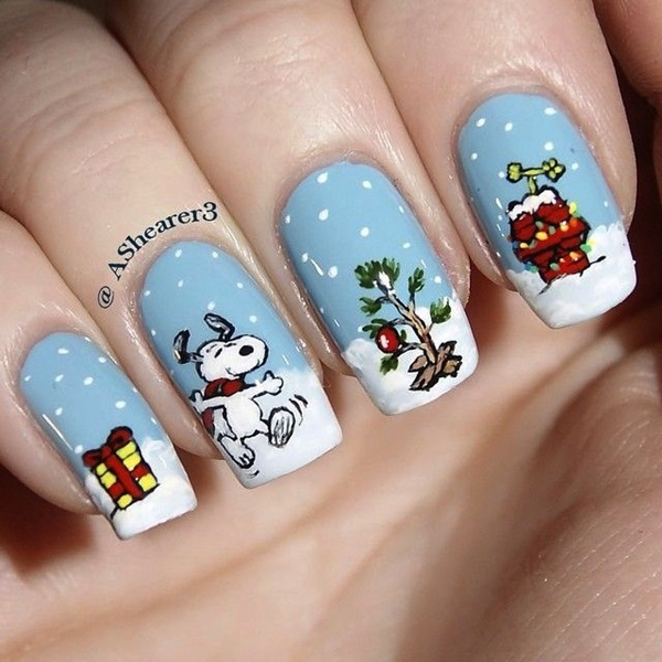 Simple Winter Nail art Ideas for Short Nails (104)