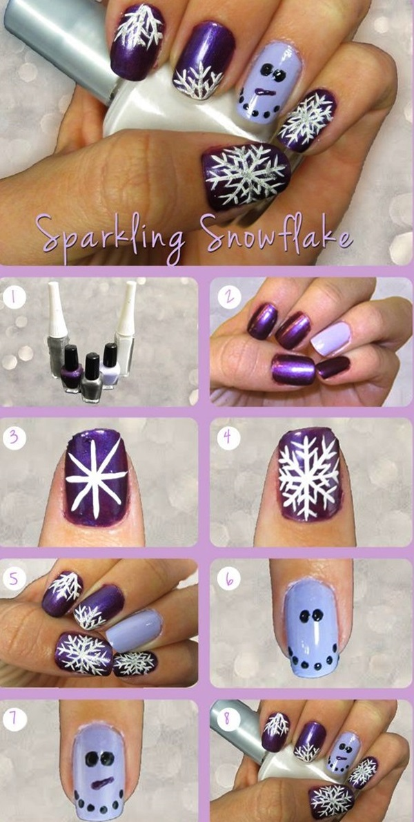 Simple Winter Nail art Ideas for Short Nails (105)