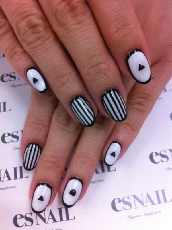 Simple Winter Nail art Ideas for Short Nails (106)